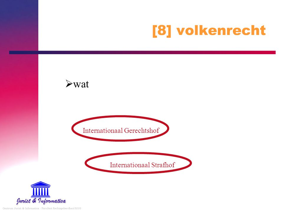 [8] volkenrecht wat Internationaal Gerechtshof Internationaal Strafhof